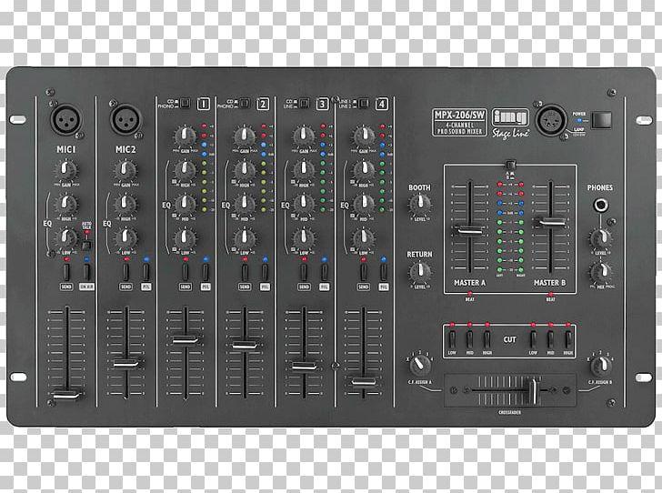 Audio Mixers Microphone Disc Jockey DJ Mixer Stereophonic.