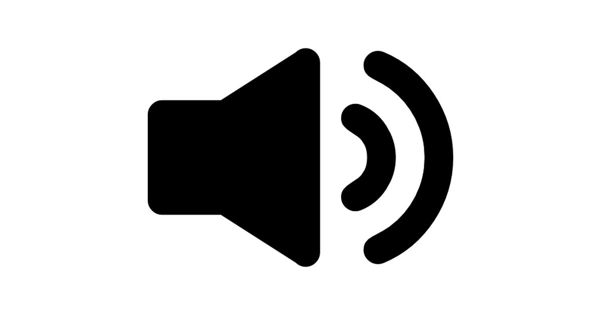 Speaker interface audio symbol.