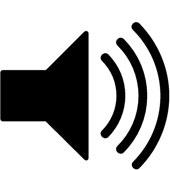 Audio Speaker Glossy Icon Clip Art.