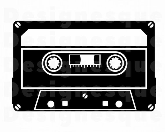 Cassette Tape SVG, Audio Cassette Svg, Audio Tape Svg, Cassette Clipart,  Files for Cricut, Cut Files For Silhouette, Dxf, Png, Eps, Vector.