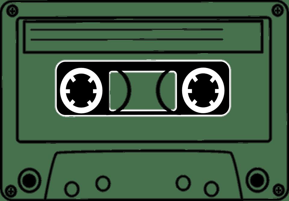 Audio Cassette Clipart transparent PNG.