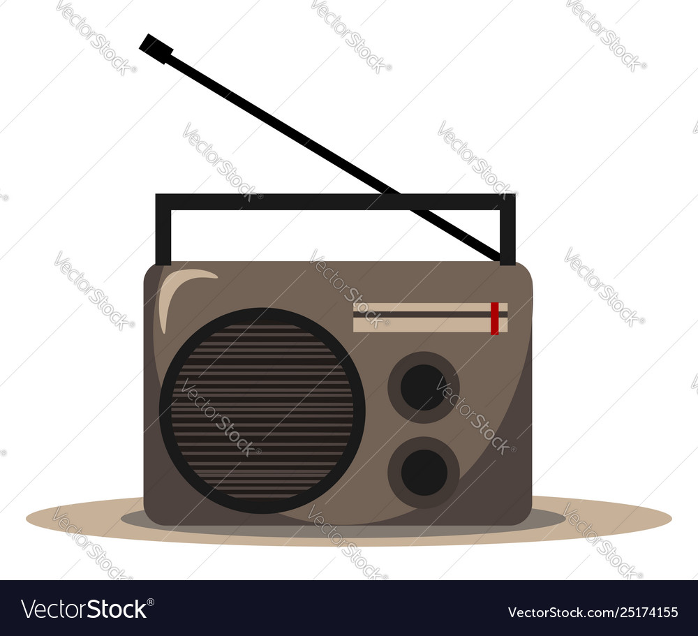 Clipart fm radio audio player or color.