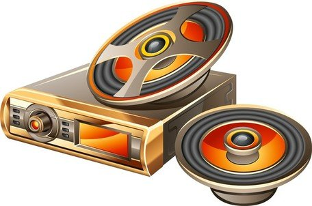 Car Audio Vector 2 Clipart Picture Free Download.