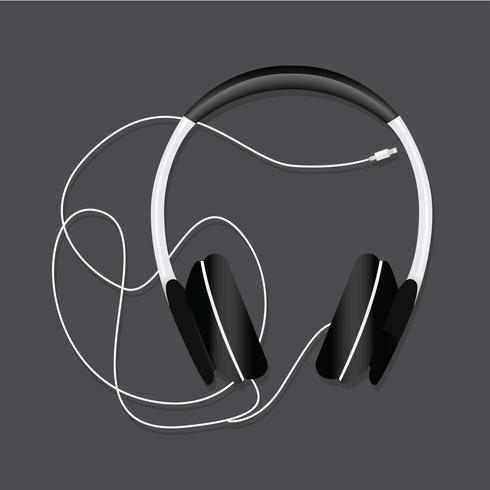 Headphone entertainment audio vector illustration.