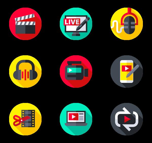 43 audio video icon packs.