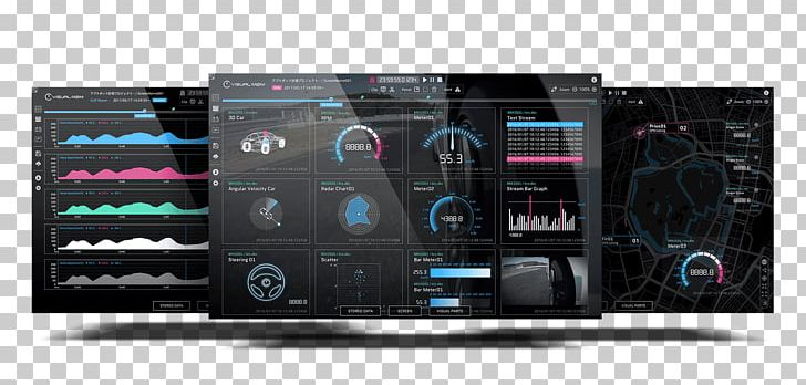 Car Electronics Data Visualization Audio Power Amplifier PNG.