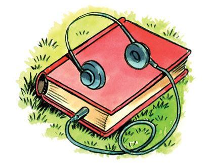 Audio Book Clipart.