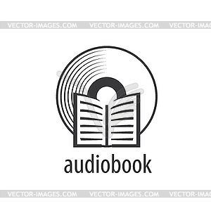 Audiobook. logo template.