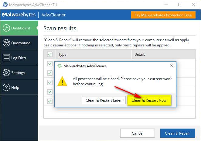 Computer might have a Malware?.