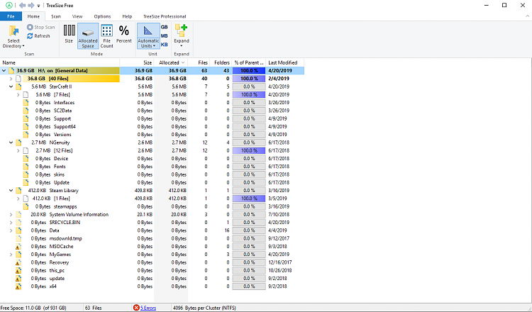 Cannot locate or delete WinDirStat files.