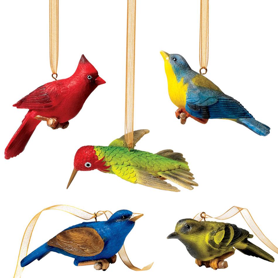 Audubon Birds Christmas Ornaments Holiday Clipart.