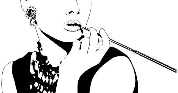 Audrey Hepburn Clipart.