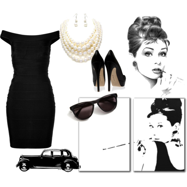 Audrey hepburn sophisticated woman clipart.
