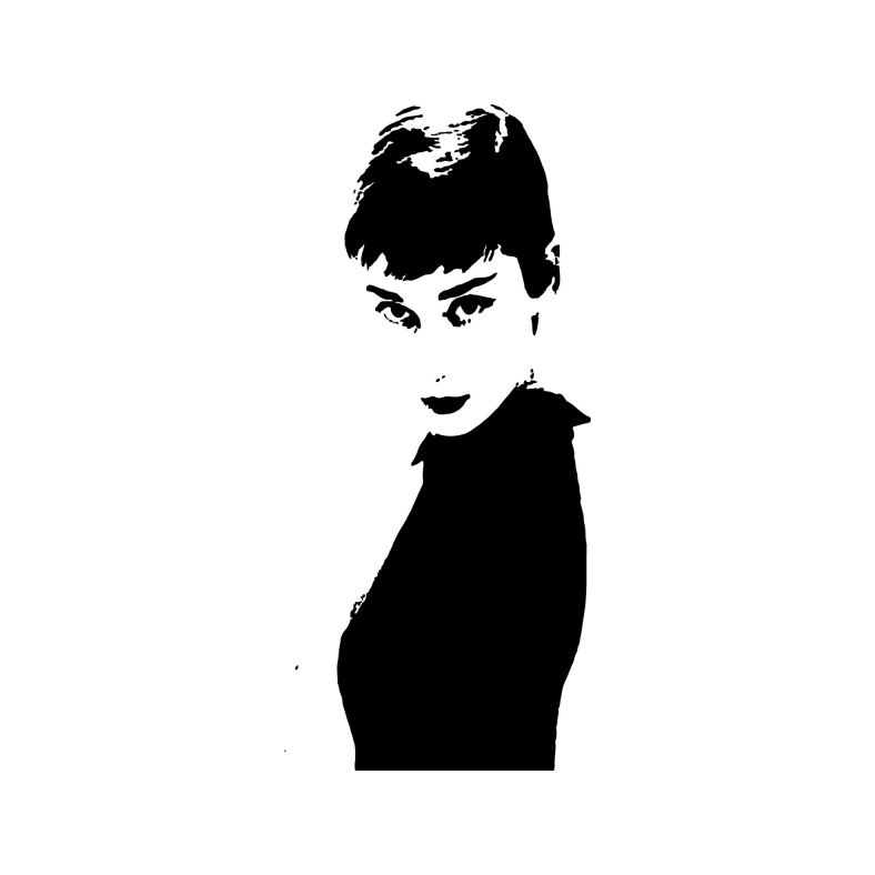 Audrey Hepburn Wall decal Sticker.