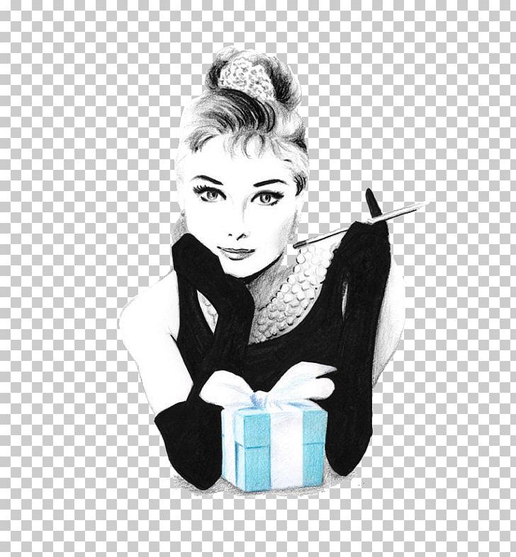 Black and white Hepburn, Audrey Hepburn sketch PNG clipart.