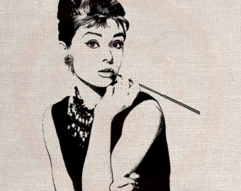 Audrey Hepburn Clipart For Bedroom.