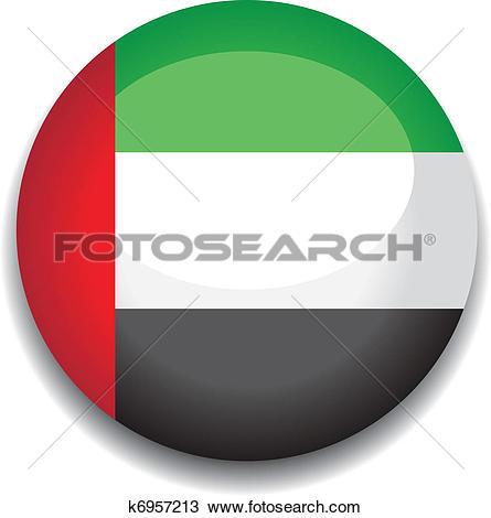 Clipart of uae button flag k6957213.