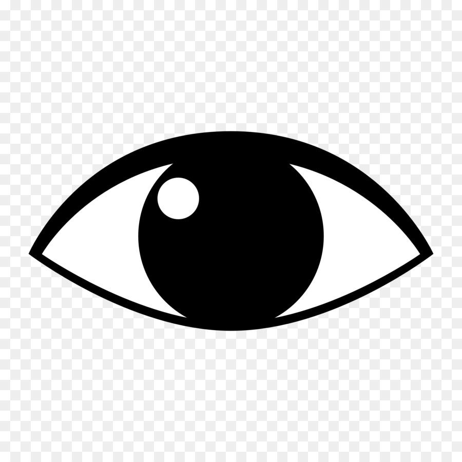 Augen Schwarz und weiß clipart.