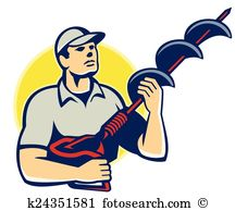 Earth auger Clip Art and Illustration. 3 earth auger clipart.