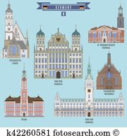 Augsburg Clip Art and Illustration. 64 augsburg clipart vector EPS.