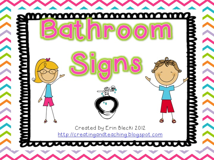 School Restroom Clipart.