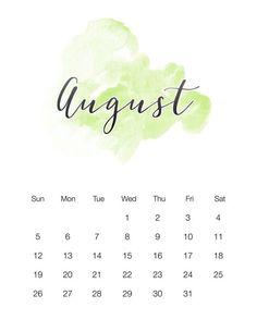 12 Best Calendar For August 2018 images.