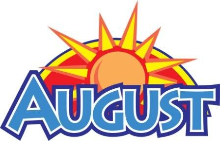 Collection of August clipart.