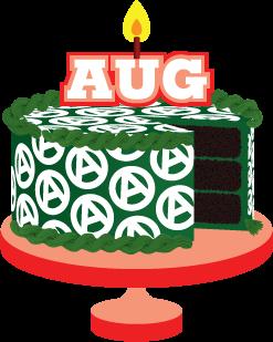 Birthday cake clip art august.