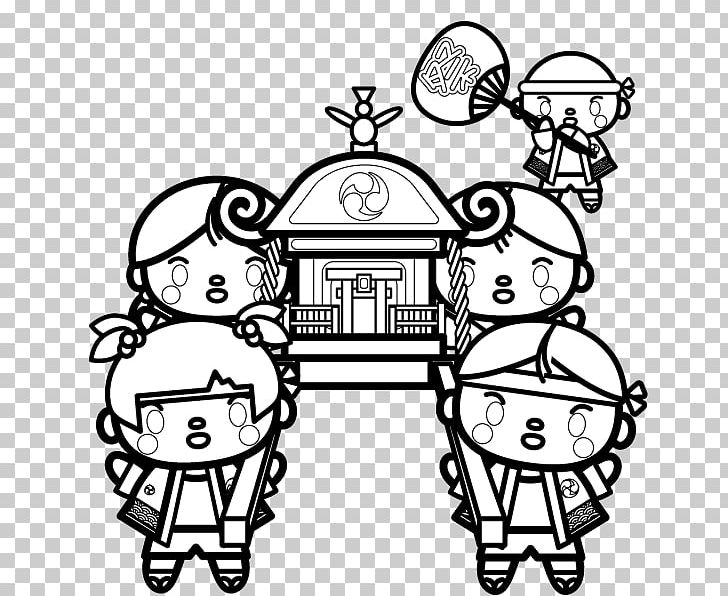Black And White Mikoshi Visual Arts Child PNG, Clipart, Art.