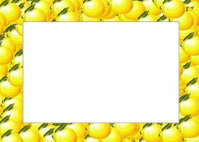 Lemon Border Clip Art.