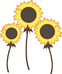 August sunflower border clipart free clipart images image #15820.