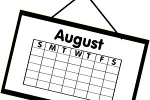 August calendar clipart 6 » Clipart Station.