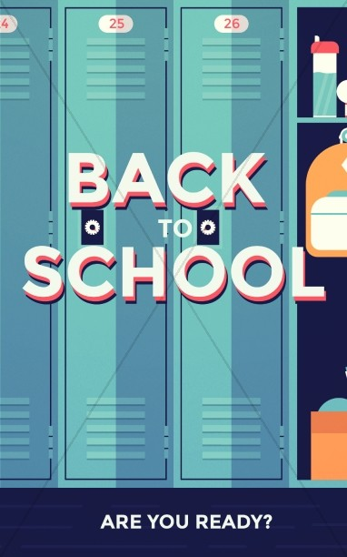 Get Ready for Back to School Church Bulletin.