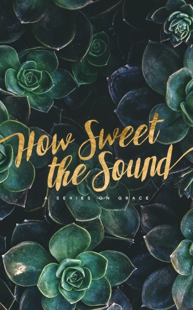 How Sweet The Sound Church Bulletin Cover Template.