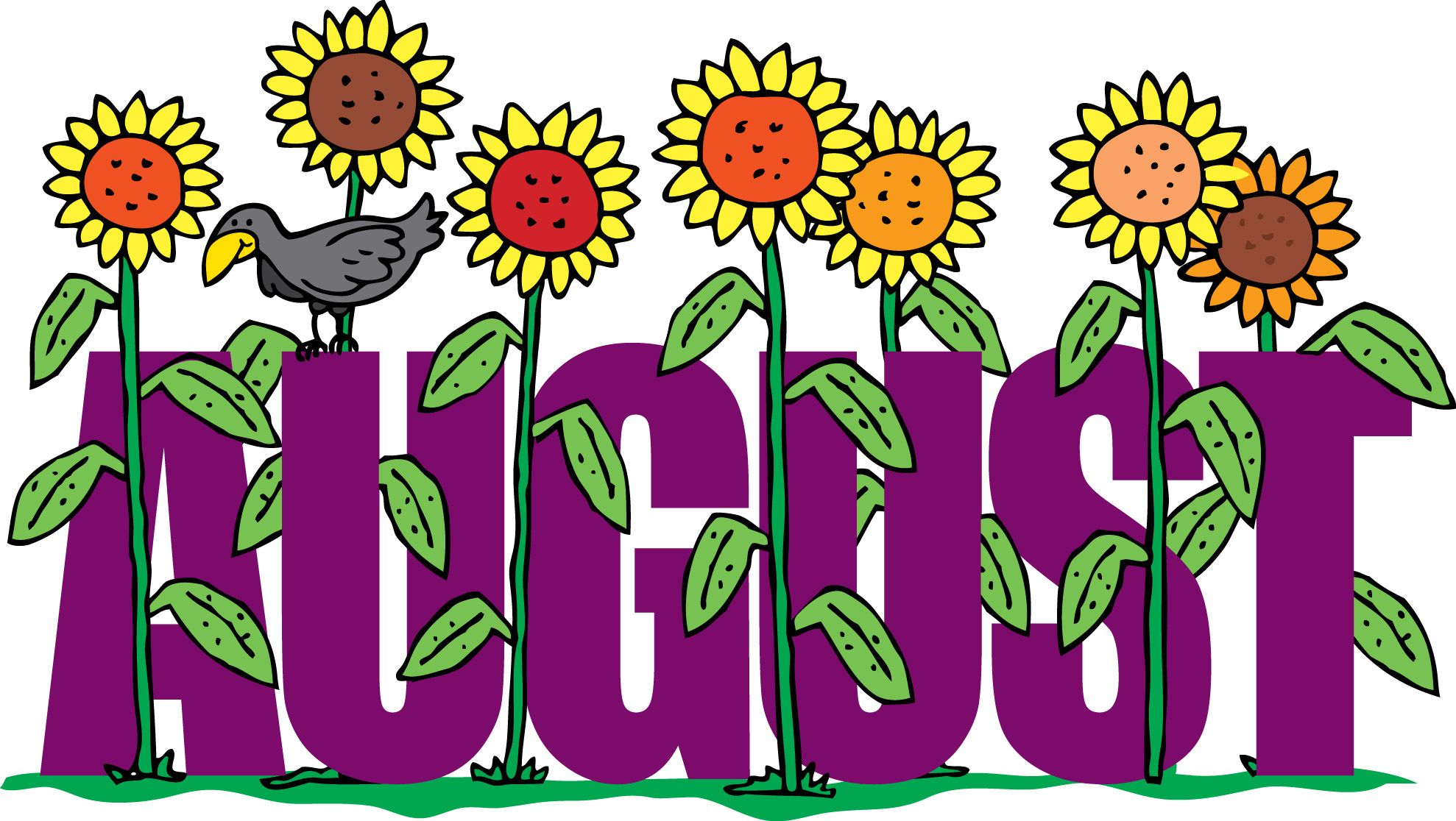 August Floral Clipart For Screen Saver.