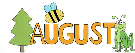 August Nature Clip Art.