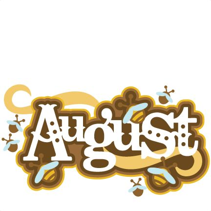 August calender ideas on monthly clipart.