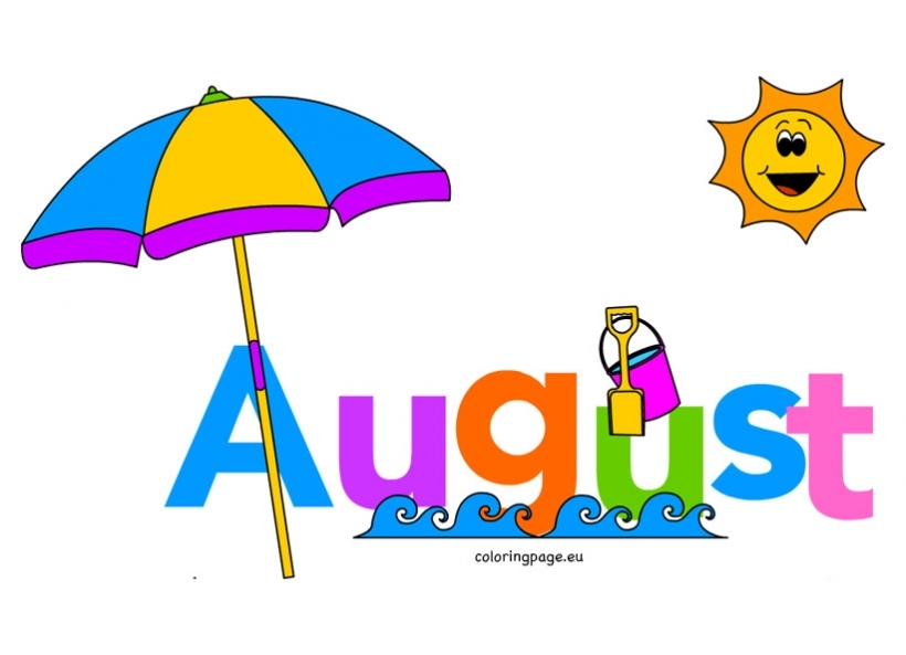 month of august clip art coloring page throughout august clipart.