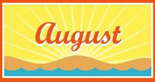 Free August Clipart.