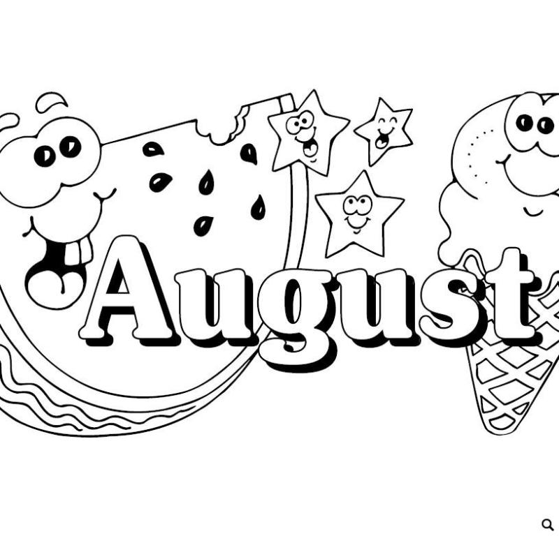 August Black And White Clipart & Free Clip Art Images #10203.