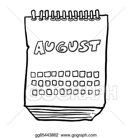 August clipart black and white 6 » Clipart Portal.