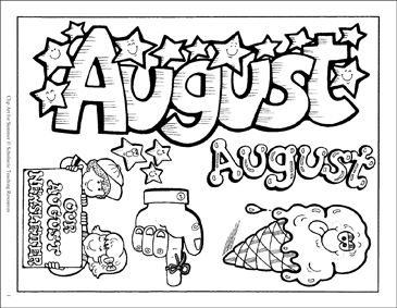 August/Our August Newsletter Clip Art.