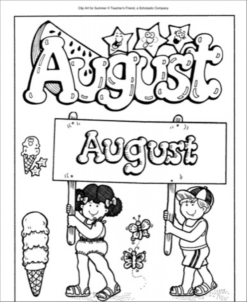 August clipart black and white back to school clip art.