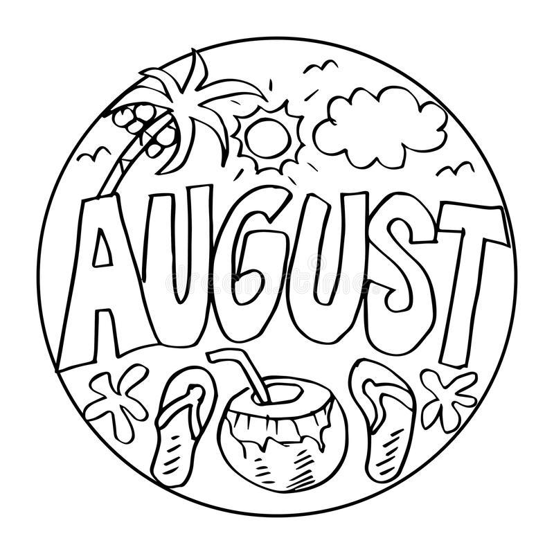 August Kids Stock Illustrations.