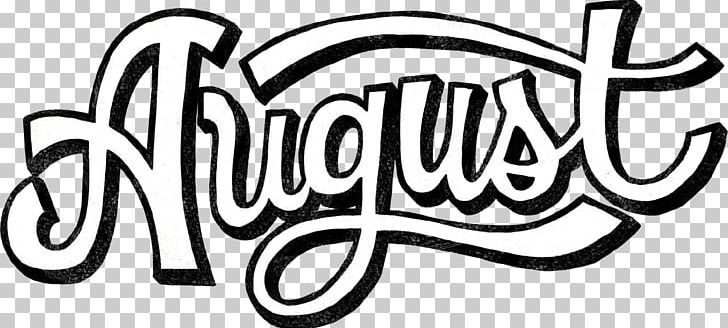 Black And White August PNG, Clipart, 2017, 2018, Area, Art, August.