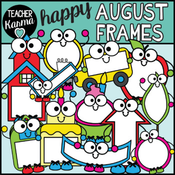 August Frames Clipart, Holiday Borders.