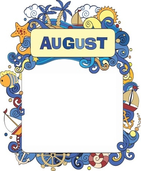 August clipart boarder, August boarder Transparent FREE for.