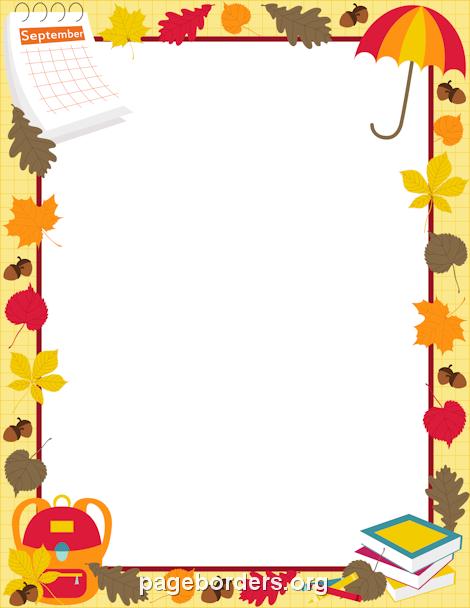 September Border Clipart.