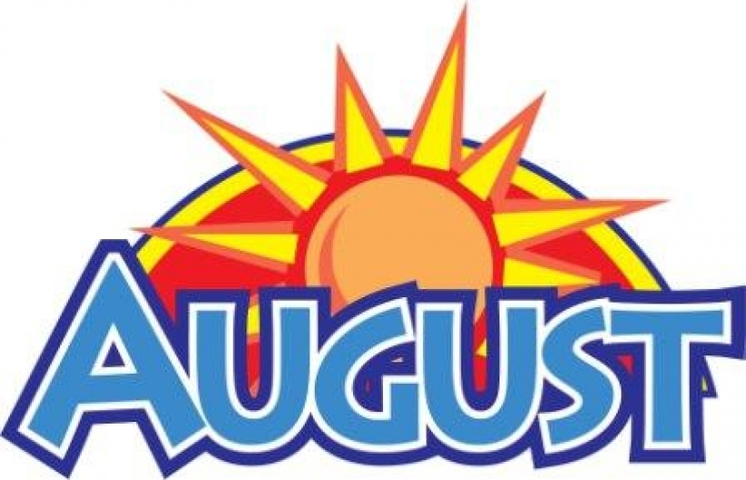 Month of august clipart image.