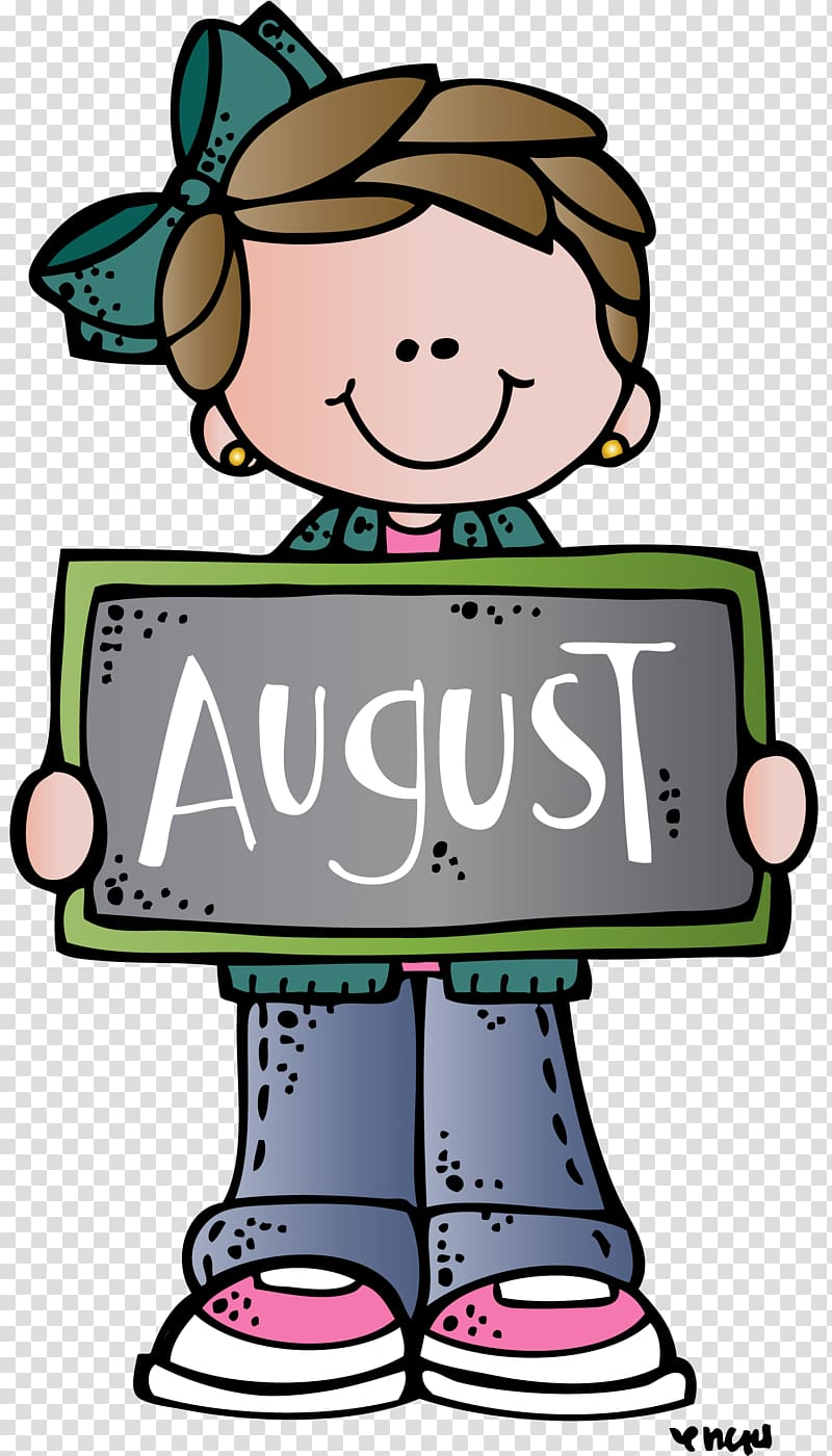 School August , doodle transparent background PNG clipart.